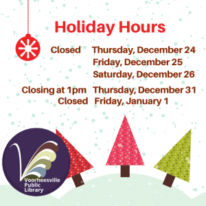Closed December 24 through December 26 and Closing early on New Year's Eve