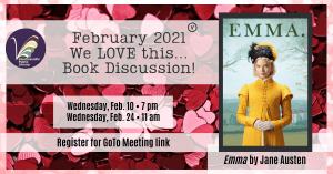 February 2021 Book Discussion: Emma by Jane Austen