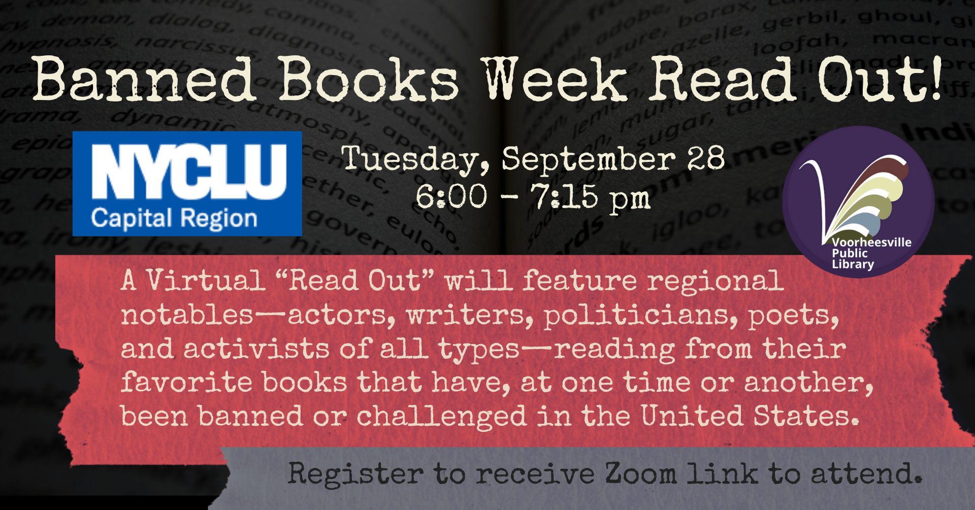 Banned Book Week Read Out Image