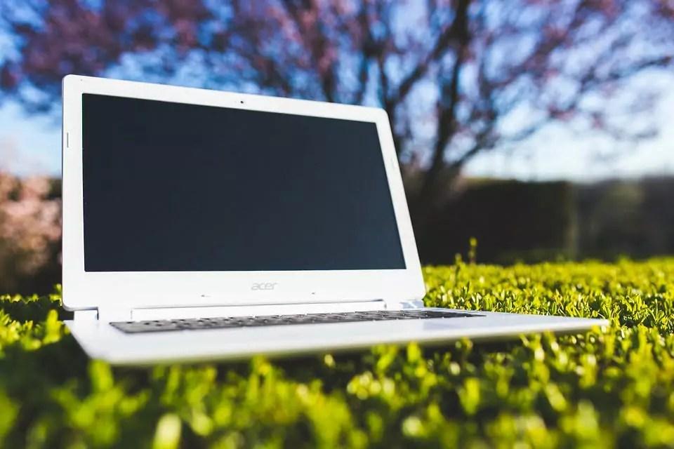 laptop natuur