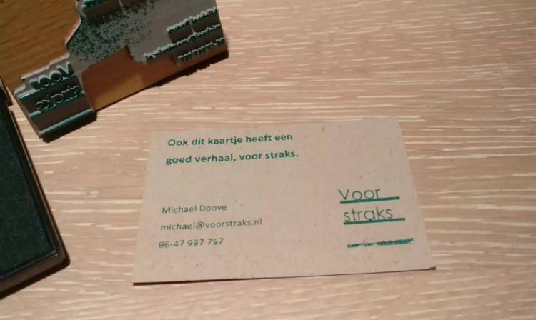 Michael Doove duurzaamheid tekstschrijver voor straks
