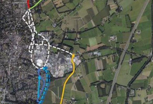 Drie mogelijke tracés door Epe voor vlotte en veilige fietsroute F50