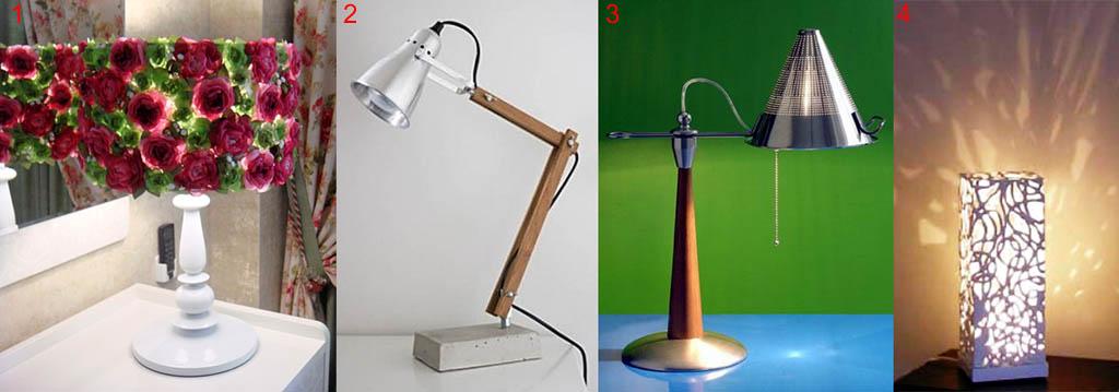 انواع لامپ های جدول