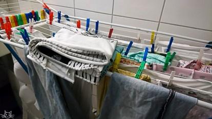 Da ich mich fast täglich um Wäsche kümmern darf, darf das Wäschebild nicht fehlen
