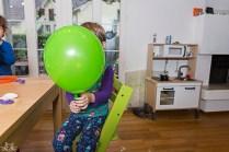 Und Luftballons aufblasen
