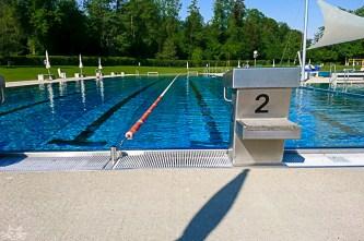 Frühsport. Das Wasser war kahalt (also 21°C ) und trotzdem etwas wärmer als die Luft.