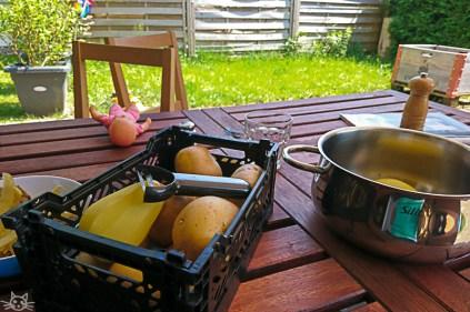 Essensvorbereitungen.