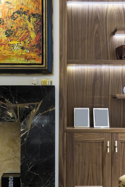 0208-black-fireplace-suround-painting-dark-wood-cabinet-nw8-st-johns-wood-vorbild-architecture-67