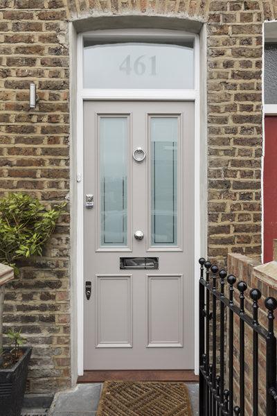 0605-grey front door victorian terraced house North Kensington