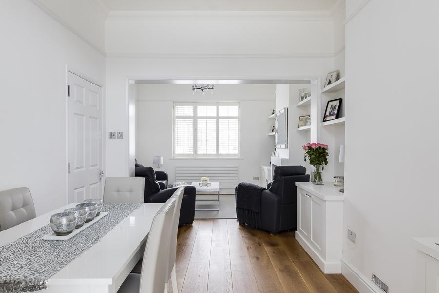 0605 white dining living room oak floor