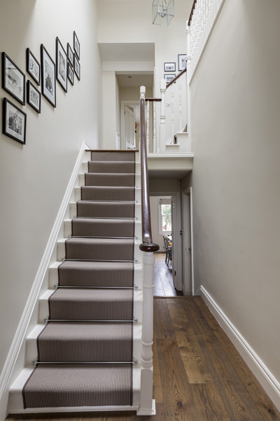 0631 brown carpet stairs runner to loft conversion in balham south london