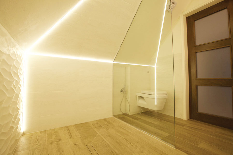 Loft shower room in St Johns Wood NW8 London