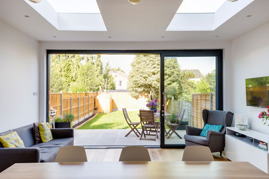 0558 Living area in a new back extension in London