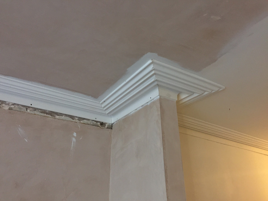 0736 new cornice during construction works in west hampstead apartment