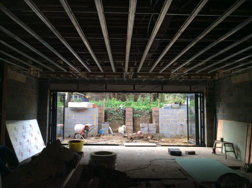 0776 large back extension building site
