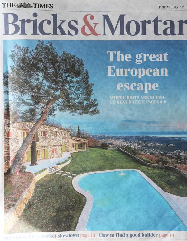 The Times: Bricks & Mortar Feature 7 July 2017-vorbild-architecture