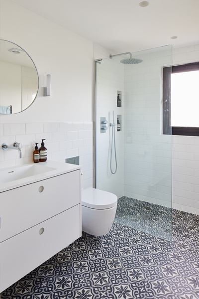 0848 master ensuite bathroom with walk in shower and marrakesh design tiles in loft