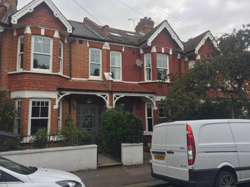 0848 facade renovation of terraced house in earsield SW18