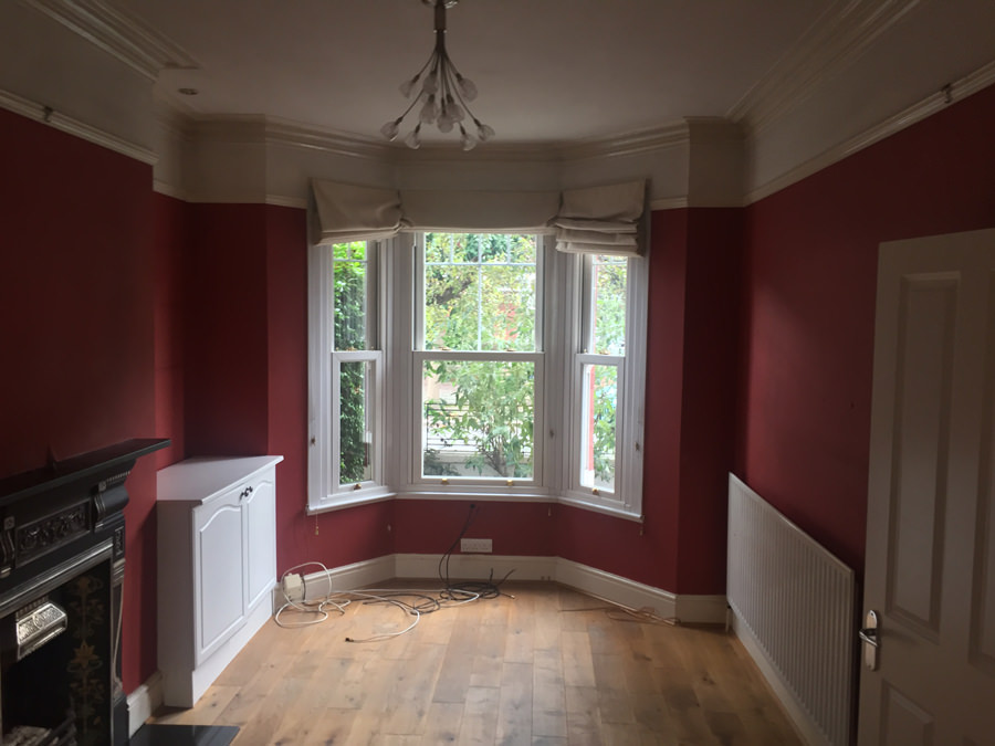 0848 living room before house renovation in SW18