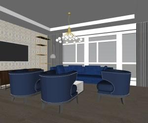 0915 Ground floor art deco refurbishment in St Johns Wood