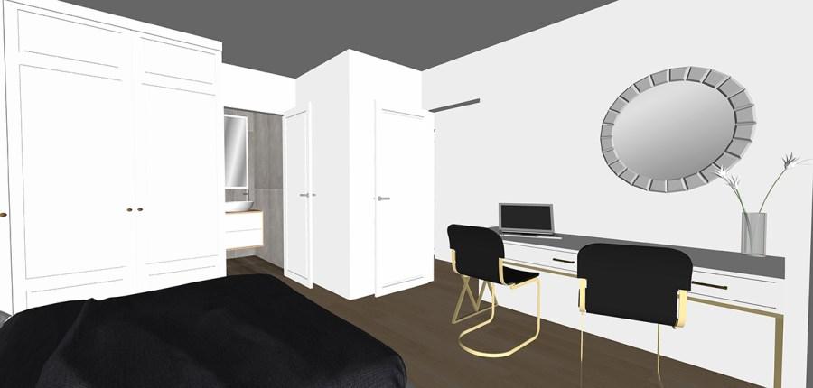 master bedroom desk-garden-flat-design-vorbild-architecture-29