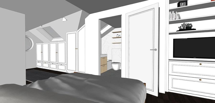 loft ensuite bathroom maisonette design