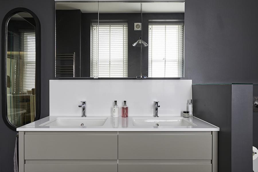 grey vanity unit double his and hers luxury bathroom