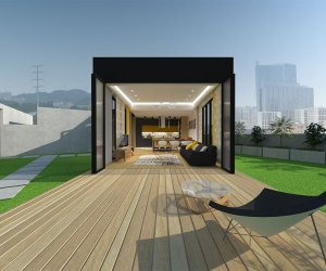 03101 Rooftop timber show home in Foshan, China