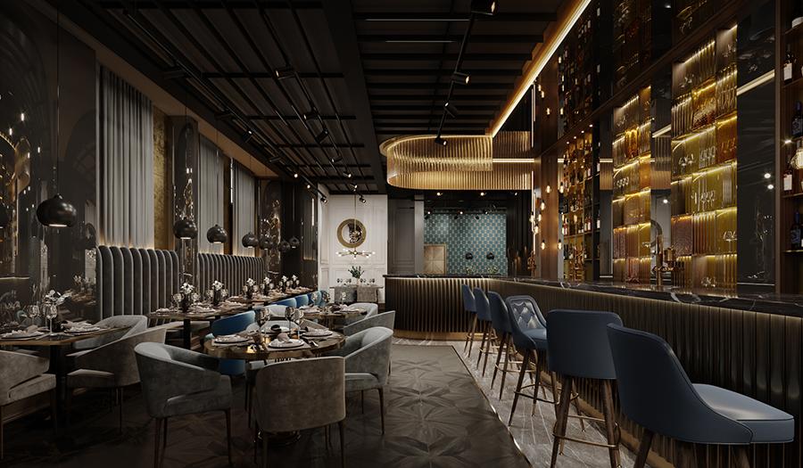1146-Restaurant-with-curved-bar-concept-in-Central-London-vorbild-architecture-003