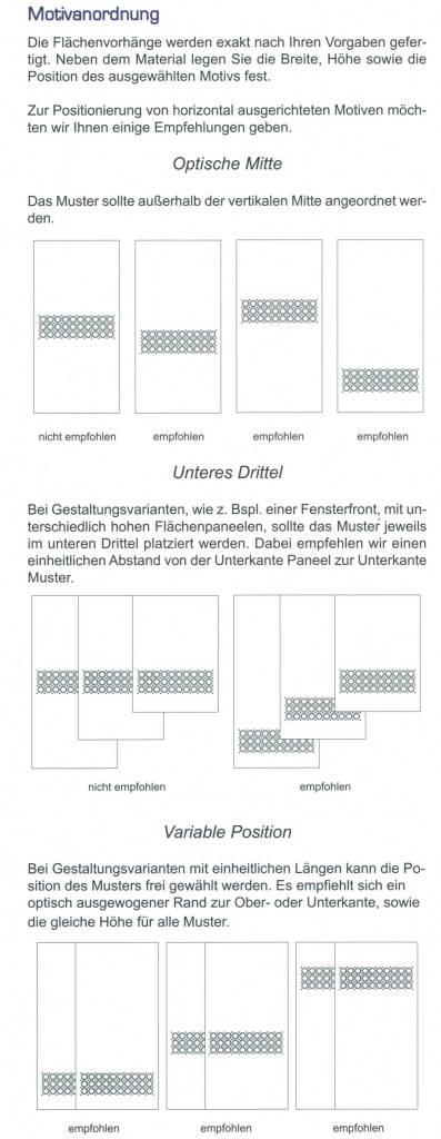 Flächenvorhang Berlin mit Loop-Strap Mustereinsatz 1