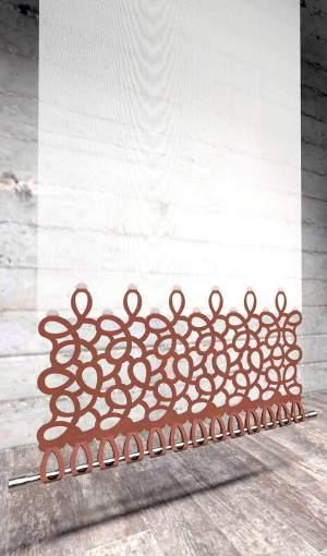 Moderner Flächenvorhang Lasercut Loop-Strap Abschluss-unten-München
