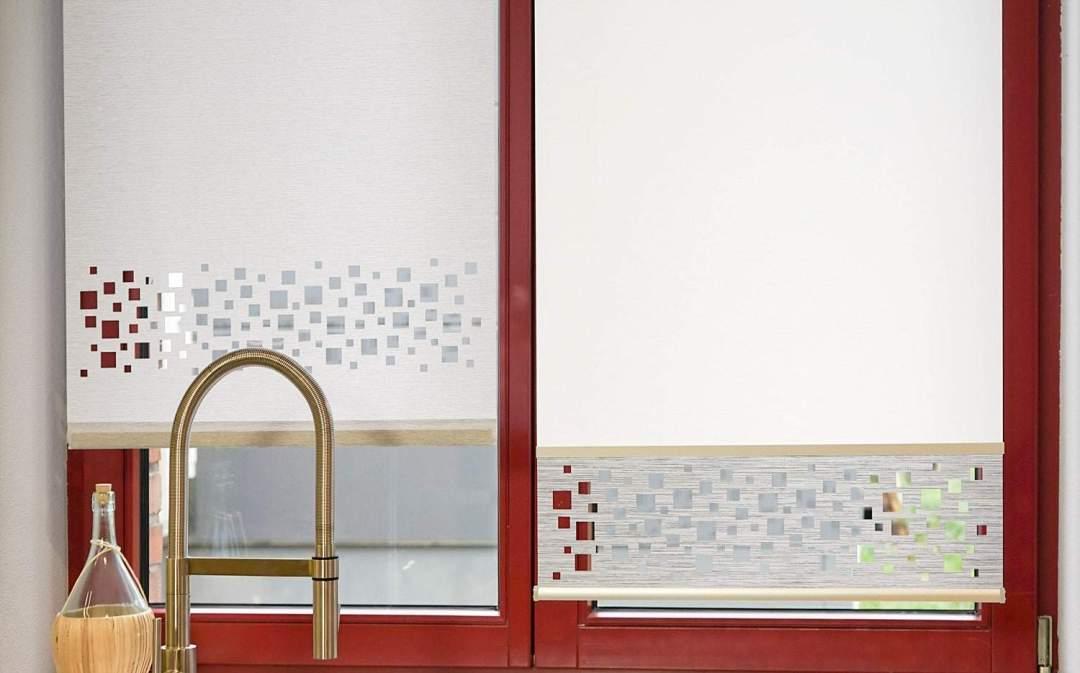 Kundenfotos Flächenvorhang mit DirectCut 60x120 cm und Flächenvorhang mit Lasercut Abschluss unten 60x140 cm Basistextil CURTIS