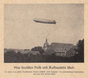 Graf Zeppelin über Nieder-Weisel 1933