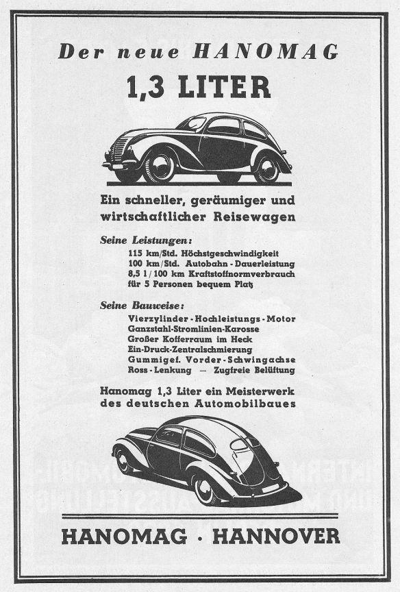 Hanomag_1,3 Liter_Reklame_1939_Galerie