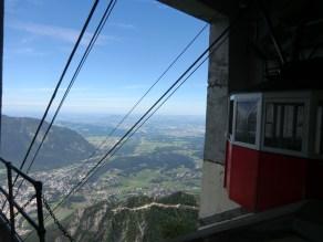 Einfahrt in die Bergstation