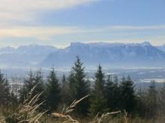 Blick auf Salzburg und den Untersberg