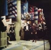 Heilige Jeanne (RKK, 24-3-1978), regie John van de Rest, decor Frank Rosen. Collectie Frank Rosen/Fotodienst NOS