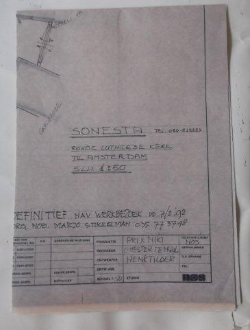 Prix Niki (NOS, 8-3-1992), regie Chester te Nuyl, decor Henk Tilder. Collectie Henk Tilder