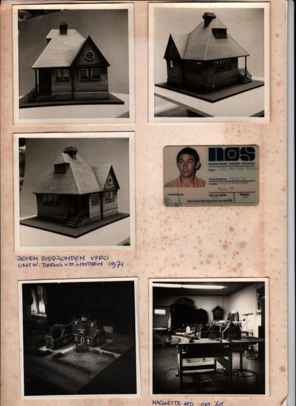 Maquette-foto's van Martien van den Dijssel voor De zeven doodzonden van de kleine burgerman (VPRO, 22-10-1970, regie Annemarie Prins, decor Dorus van der Linden. Collectie Martien van den Dijssel