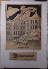 Beurshandel herleeft, Mercurius blaast het vergunningsstelsel de deur uit. Nieuwsprent voor het Financieel Dagblad.
