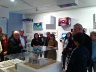 Die was extra leuk omdat de ontwerpers wiens werk in de tentoonstelling te zien er bijna allemaal waren