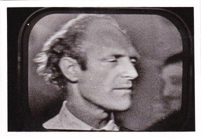 Portret (tele-snap) van Nico van Baarle zonder snor, vermoedelijk begin jaren vijftig. Collectie Xandra van Baarle