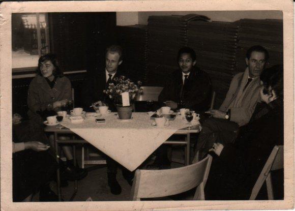 Vlnr: Jenny Kehrer, Jan van der Does, Ben Hulskamp en Fokke Duetz, ca 1960. Collectie: Martien van den Dijssel