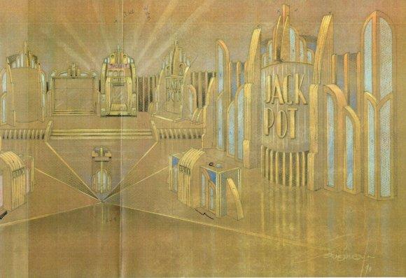 Jackpot (John de Mol, 1990), decorontwerp Misjel Vermeiren. Collectie Beeld en Geluid