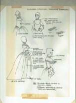 Kostuumontwerp voor Signora Candida uit De Waaier (Haagse Comedie, 1977). Ontwerp Hans Christiaan. Bron: Marjolein Sligte
