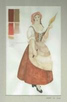 Kostuumontwerp voor Giannina uit De Waaier (Haagse Comedie, 1977). Ontwerp Hans Christiaan. Bron: Marjolein Sligte