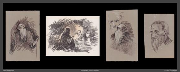 Een vroege Vermeer (niet gerealiseerd, 1984-1985), voorstudies Albert Vermeiren. Collectie Misjel Vermeiren