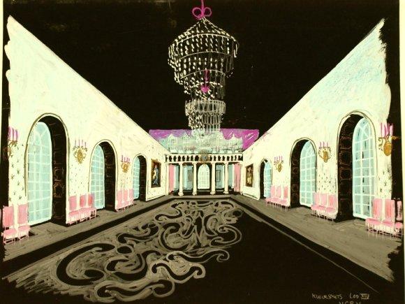 Louis quartorze (NCRV, 14-3-1962), decorontwerp Wim Bijmoer. Collectie Beeld en Geluid