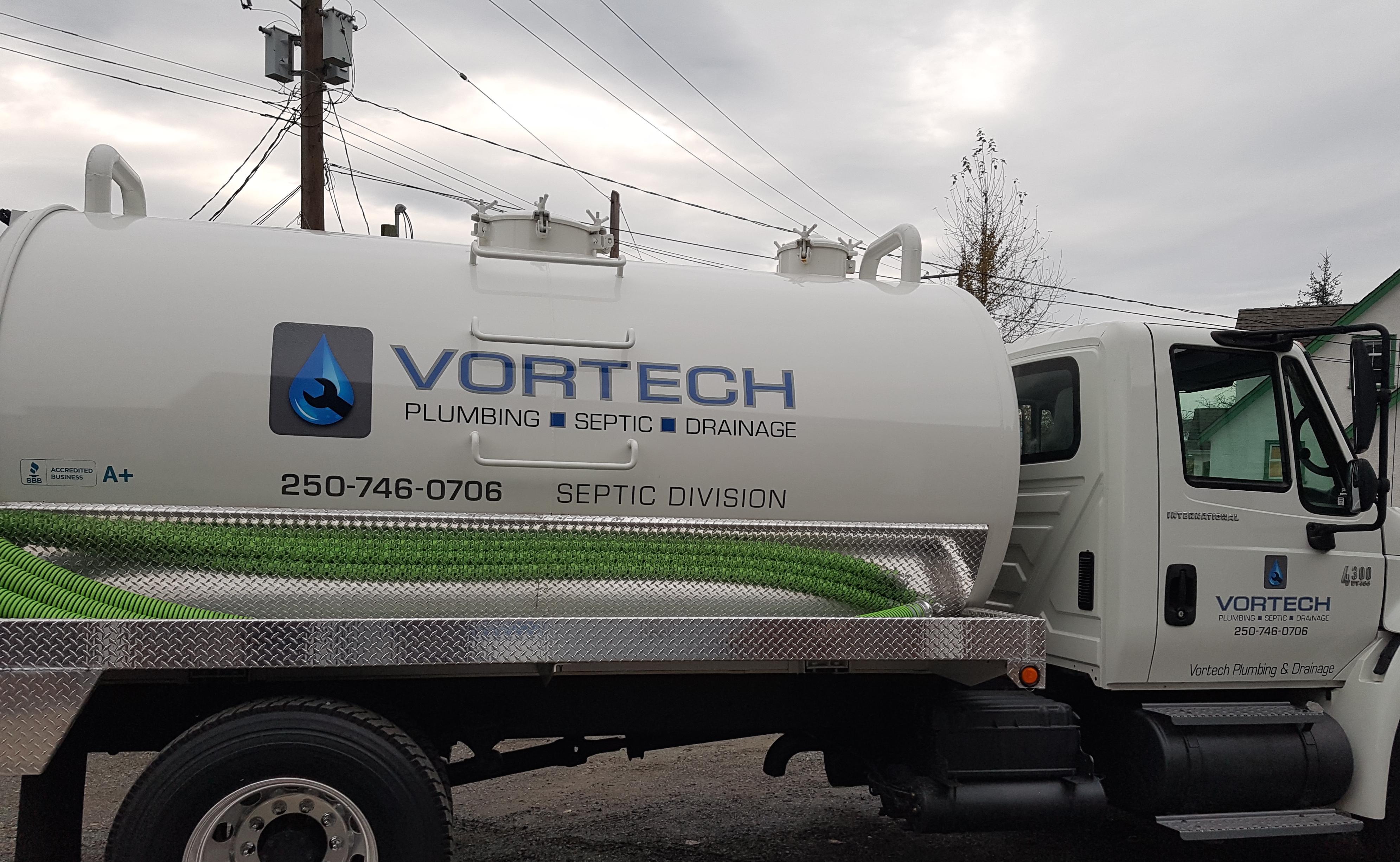 Vortech Plumbing Septic Truck
