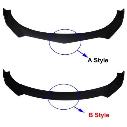 Universal Carbon Fiber/Black Car Front Bumper Lip Splitter Bumper Diffuser Guard Protector
